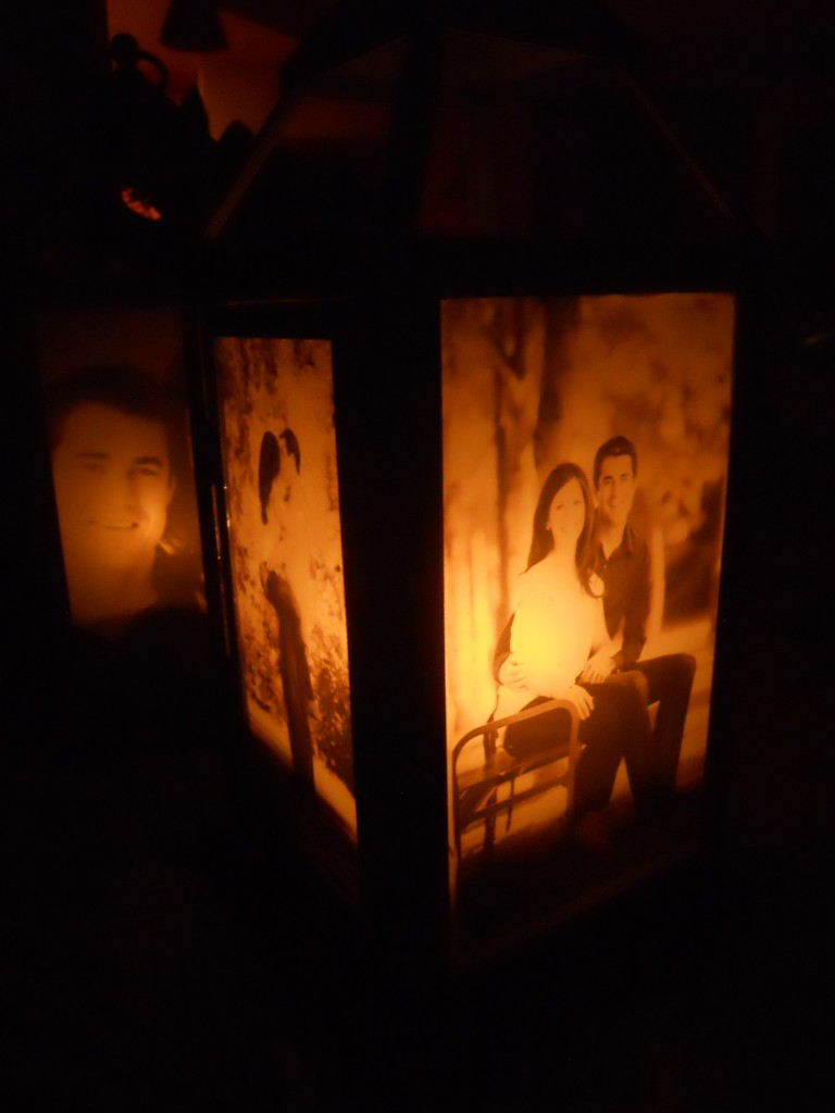 photo lantern with candle