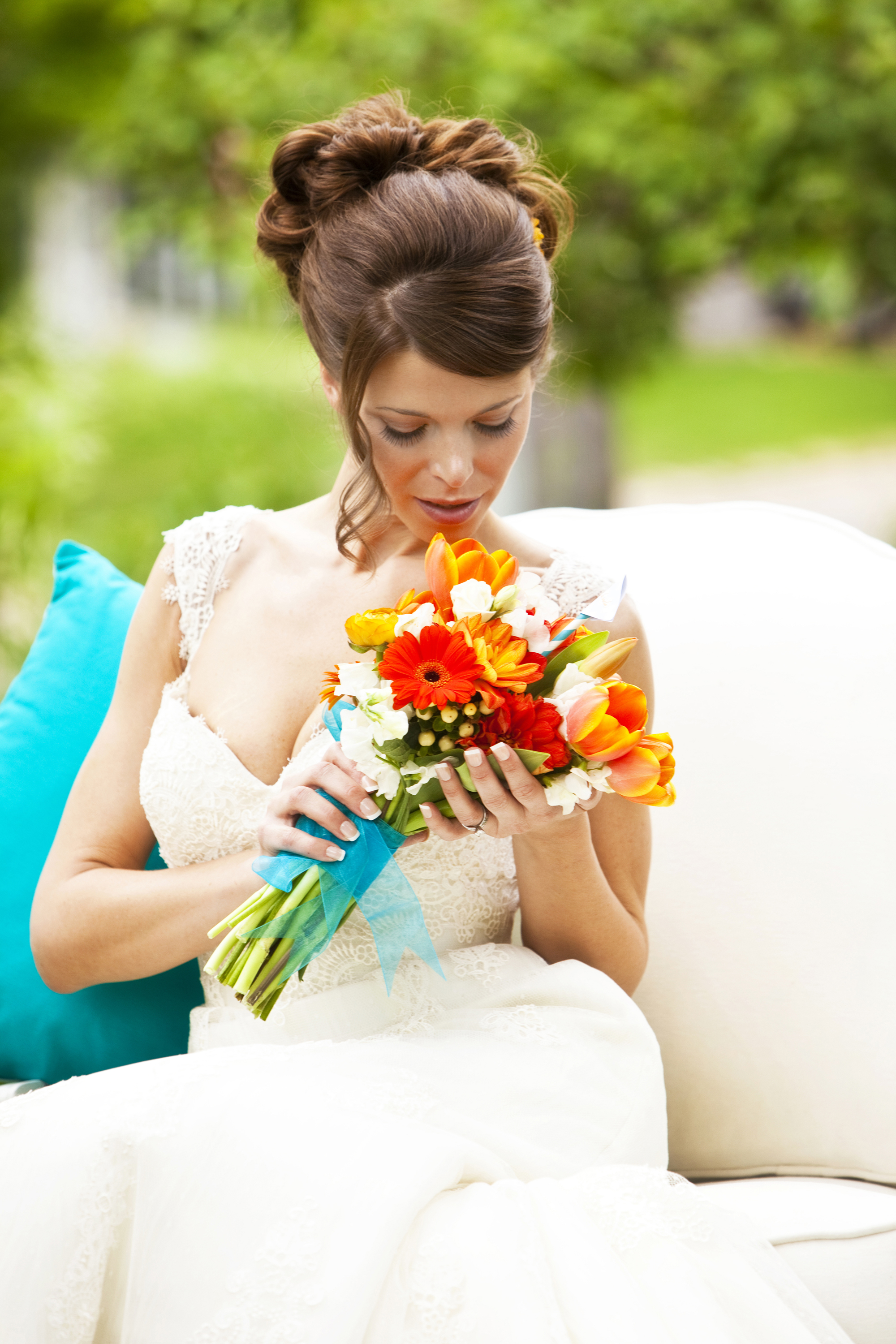 tangerine and teal party ideas