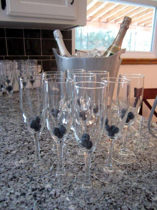 baby shower champagne