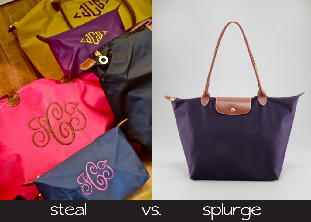 bags steal vs. splurge