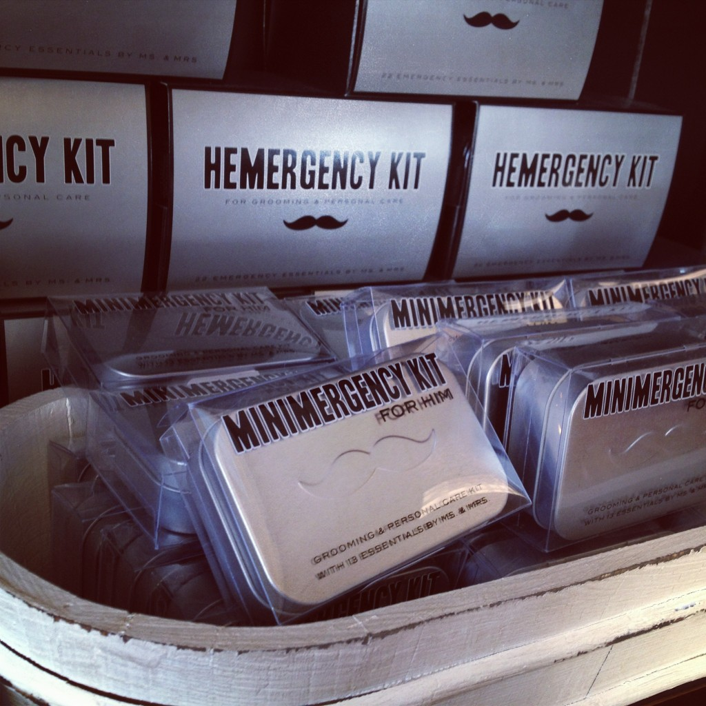 mustache hemergency kits