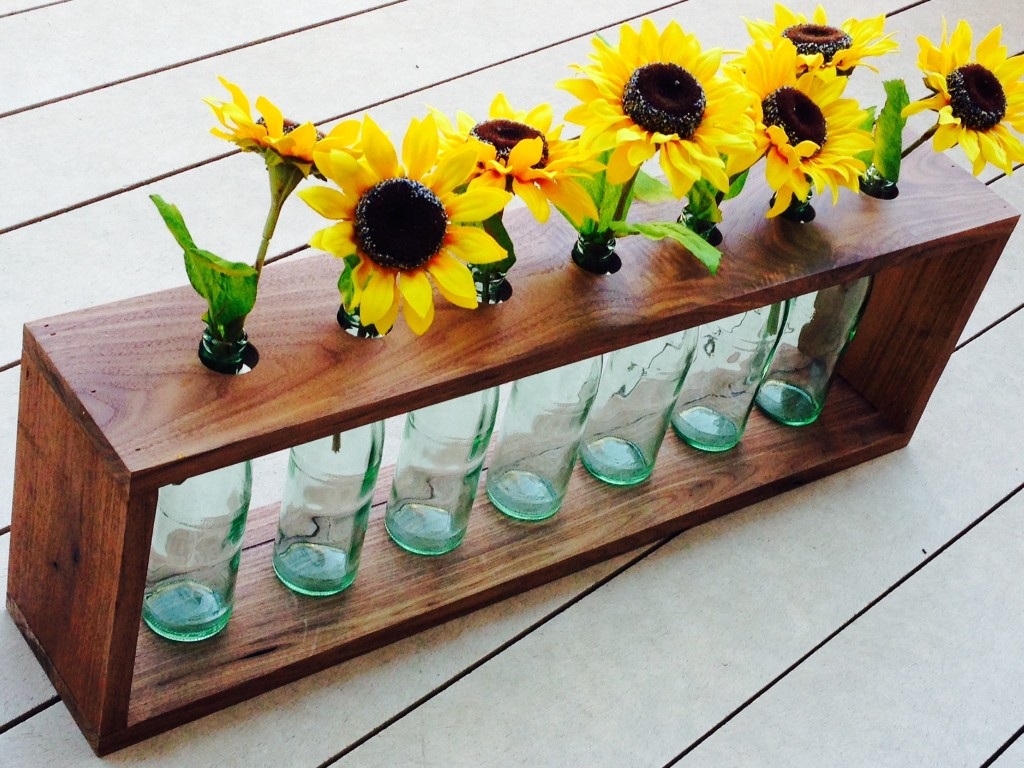 DIY sunflower centerpiece