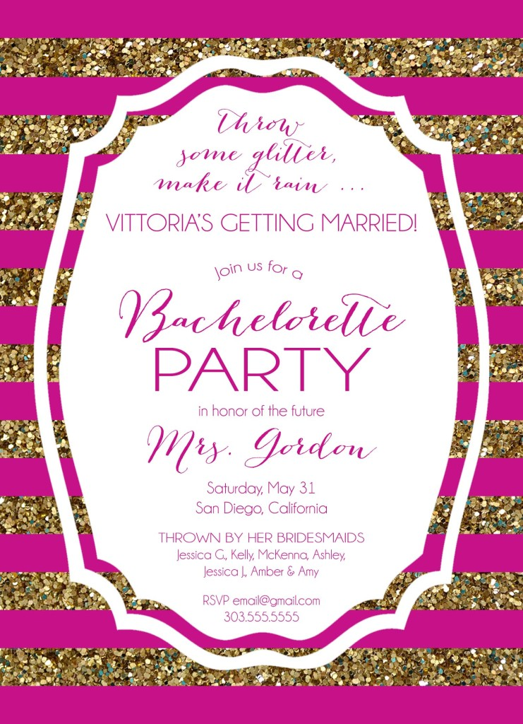 Sparkle Bridal Shower and Bachelorette Party – Bridal Shower and Bachelorette Party Invitations