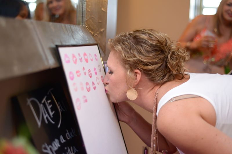 kissing artwork_shower activity