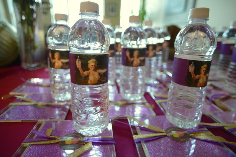 custom bachelorette party water bottle labels