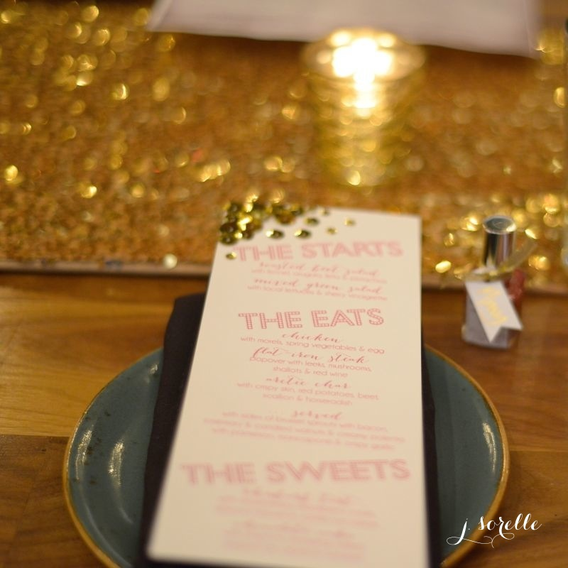 DIY glitter menu