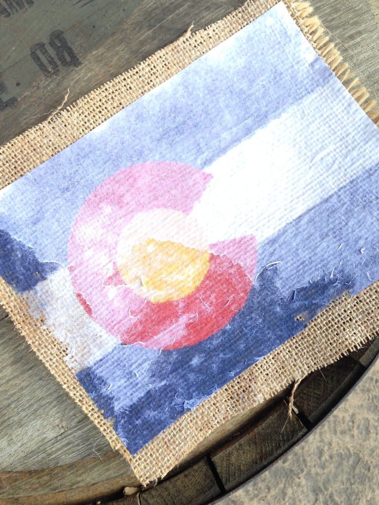 colorado burlap flag diy