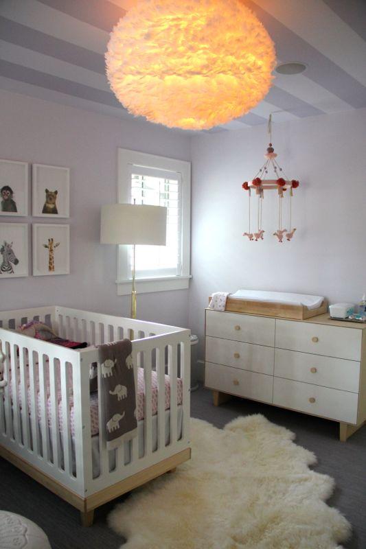 Modern And Chic Baby Girl Nursery