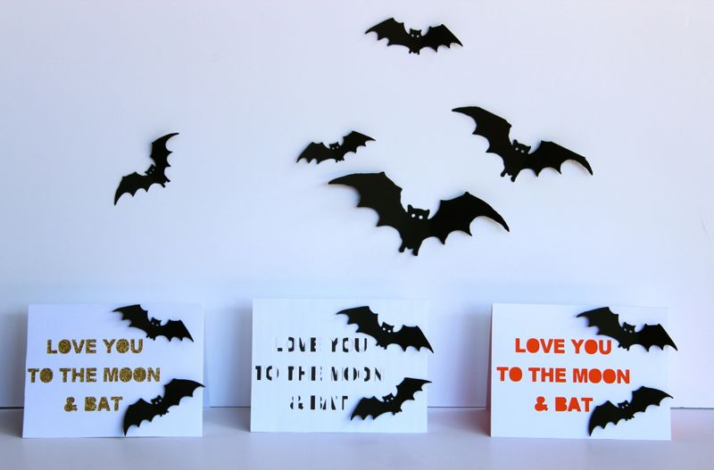 love you to the moon and bat halloween cards_jsorelle