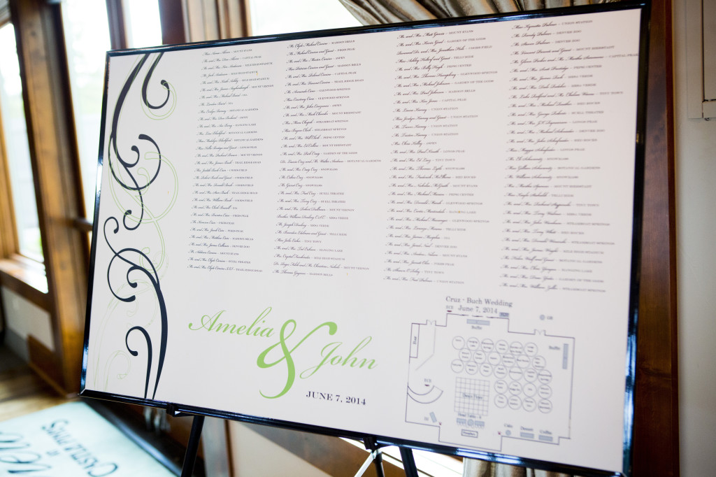 table seating poster