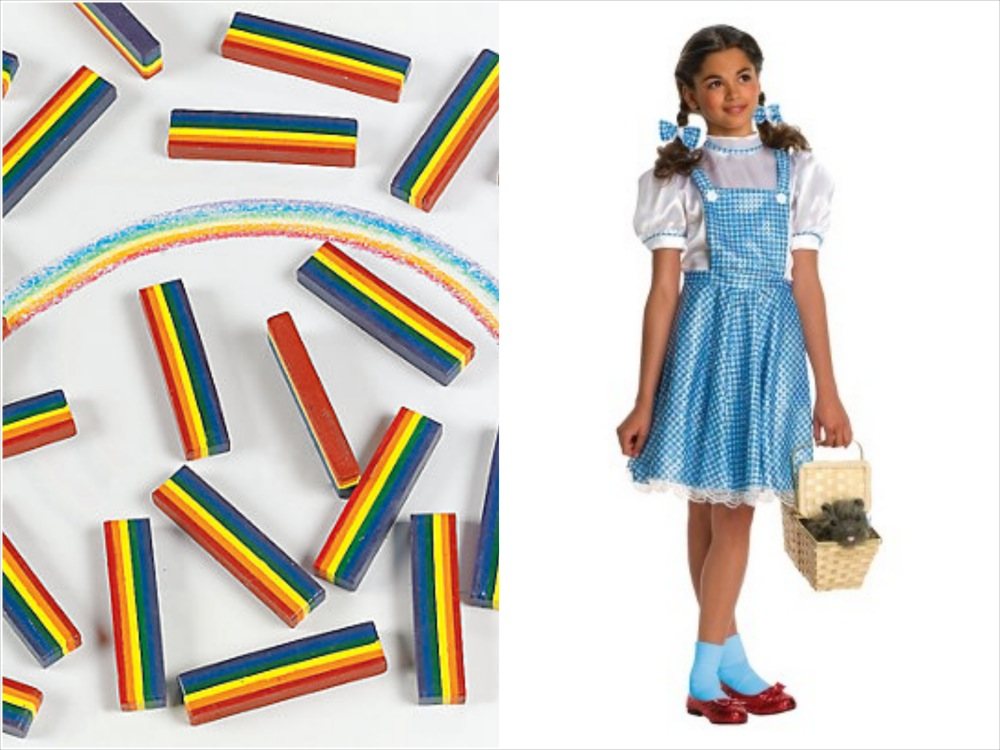 dorothy costume and favor