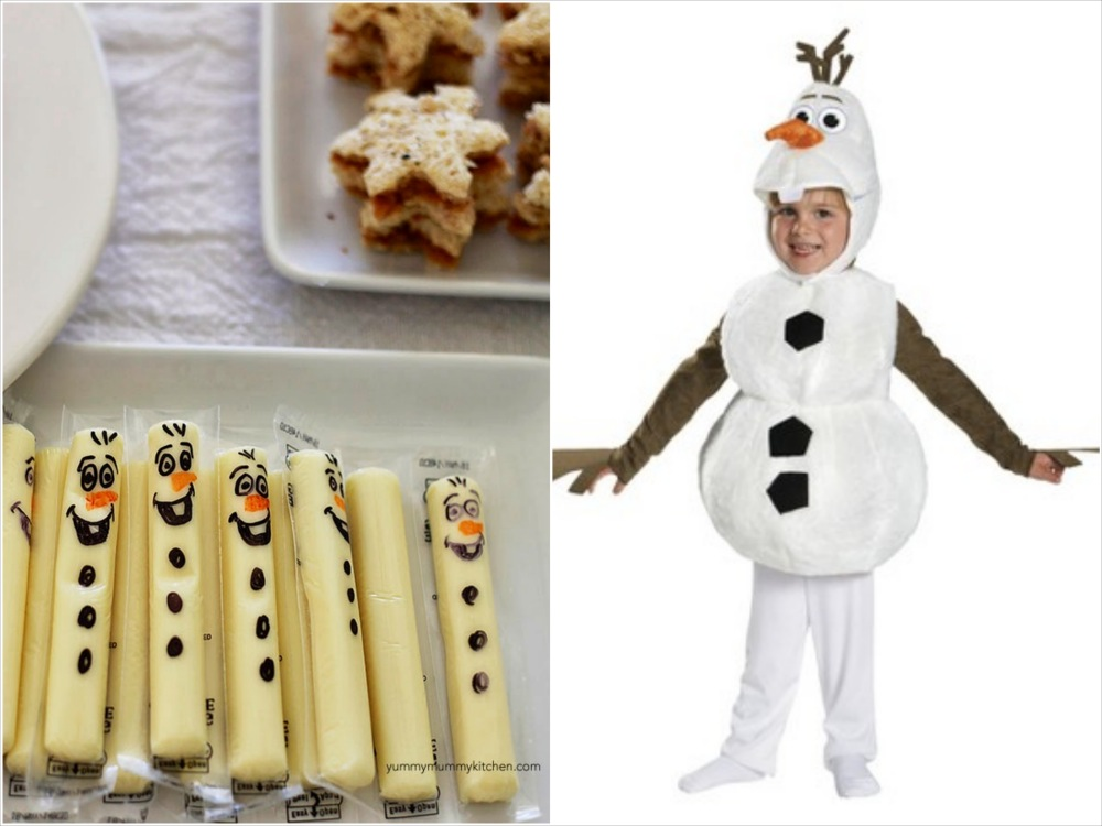 olaf halloween costume and matching favor