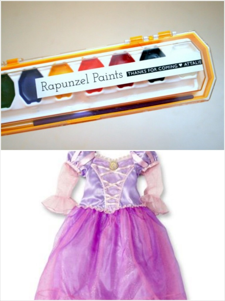 rapunzel halloween costume and favor