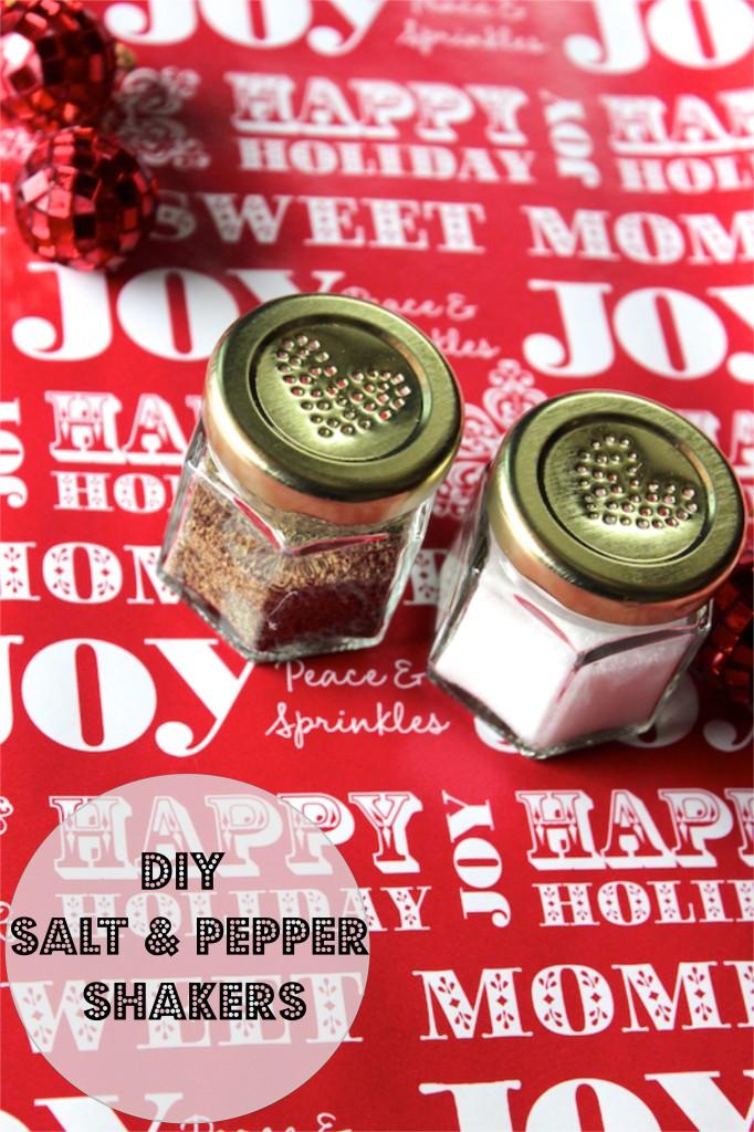 DIY salt and pepper shakers