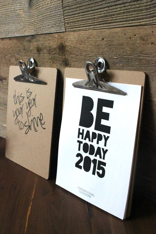 diy clipboard and calendar gift