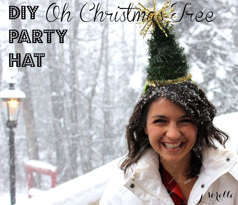 DIY christmas tree party hat