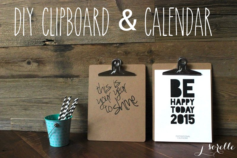 diy clipboard and calendar