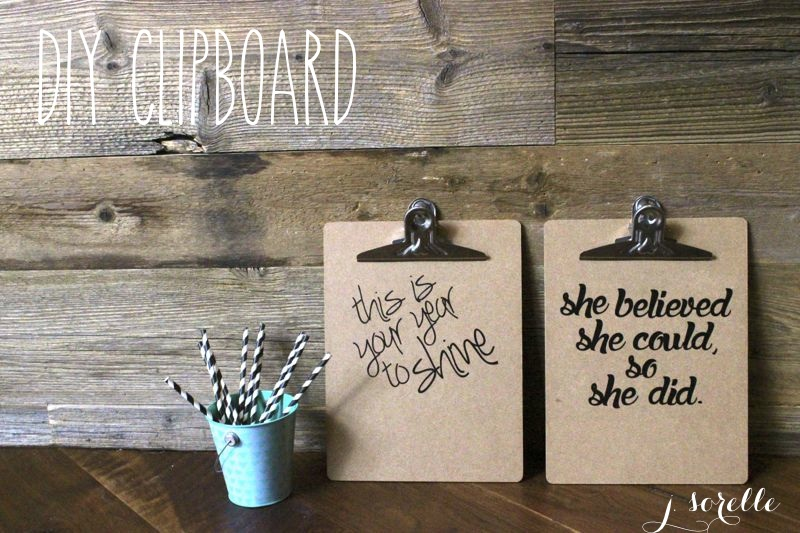 diy clipboard gift