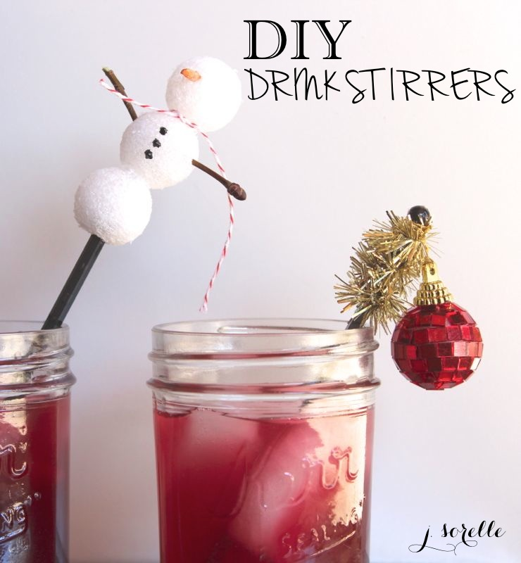 diy drink stirrer_holiday cocktail