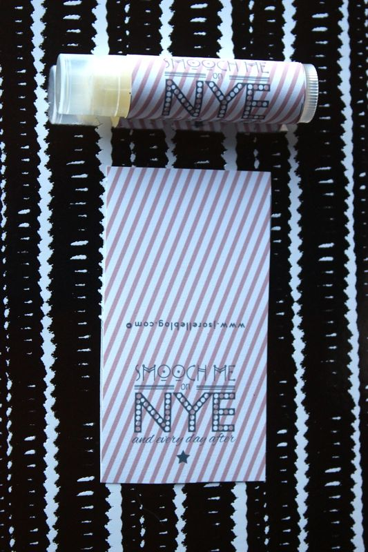 New Years Eve lip balm labels