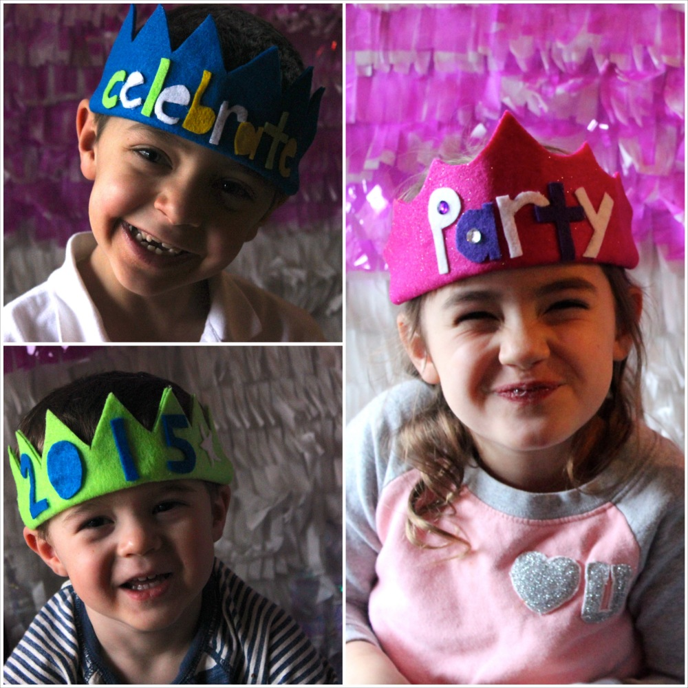 NYE no sew felt crowns