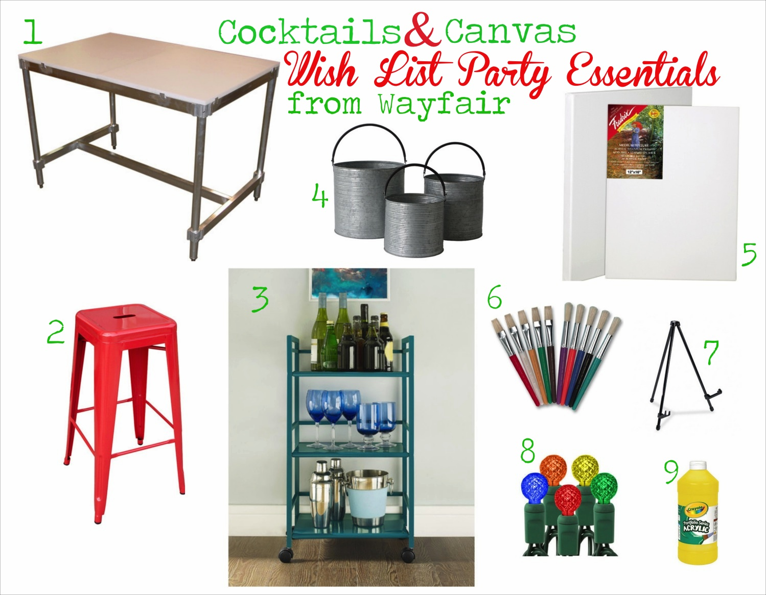 Cocktails And Canvas Wayfair Wish List And Giveaway