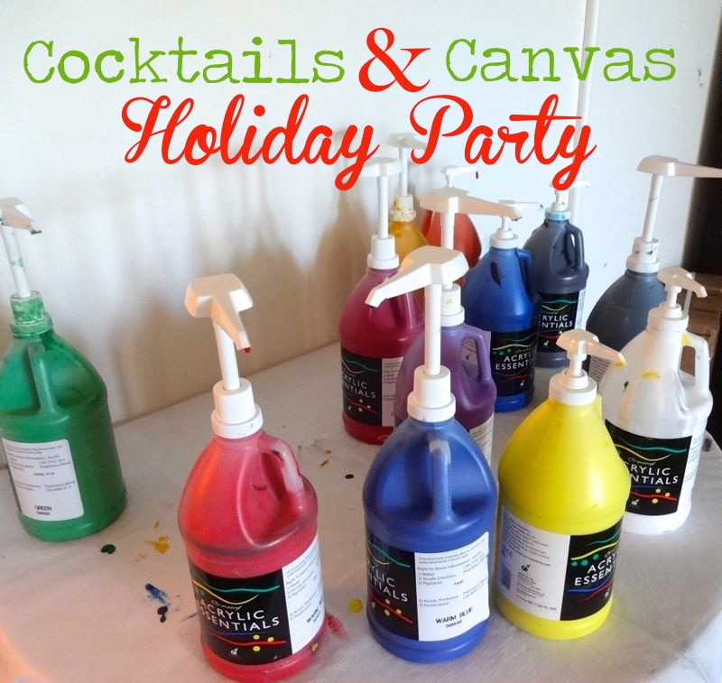 cocktails and canvas holiday party with way fair