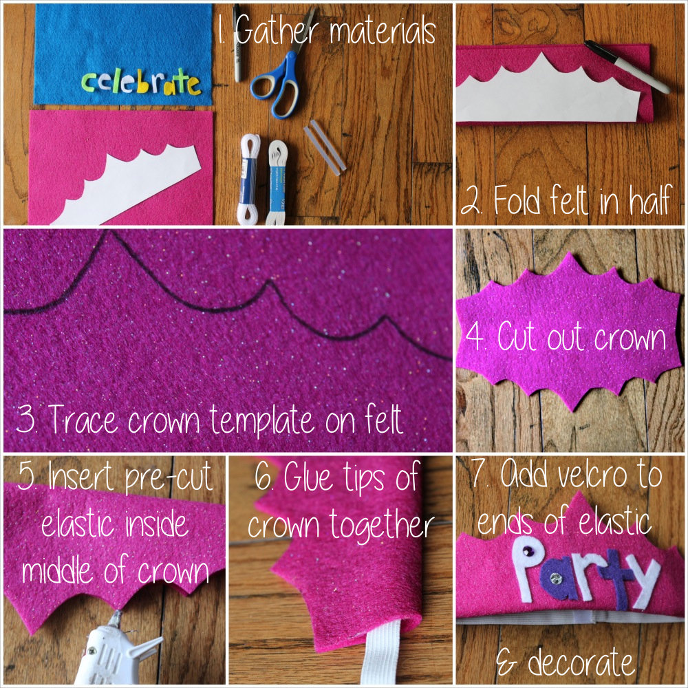 how to make a no sew felt crown