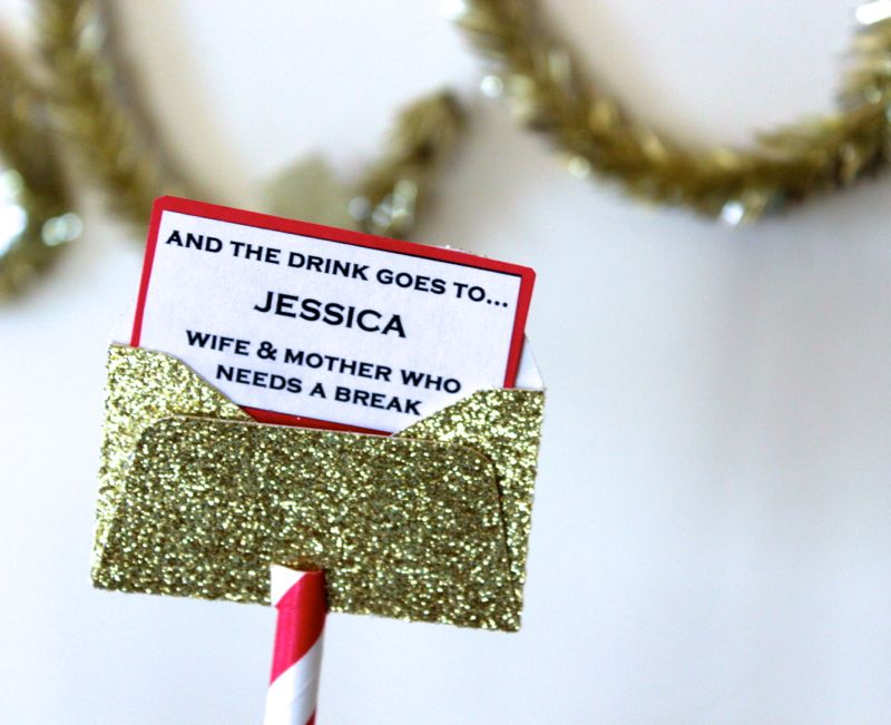 gold-oscar-red-white-straw-envelope-party-champagne-cocktail