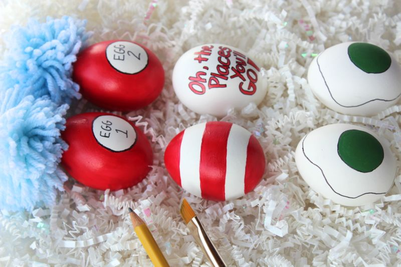 DIY Dr. Seuss Easter Eggs