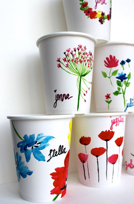 diy-paper-cups-flower-wreath-spring-brunch-table-setting-watercolor-art-bridal-shower-favors