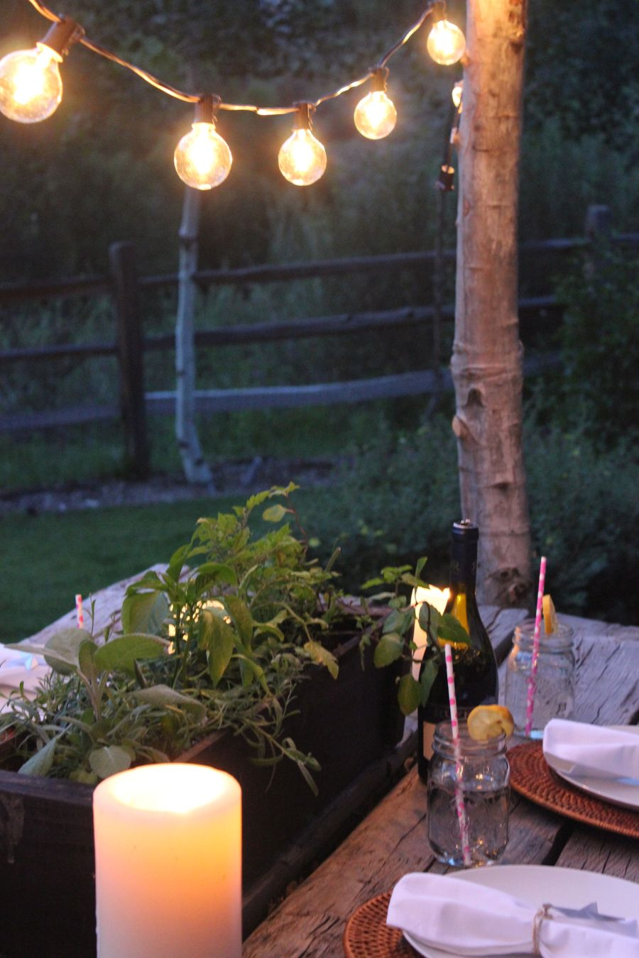 String Lights Outdoor Pole : Make DIY String Light Poles with Concrete Stands for Outdoor Entertaining