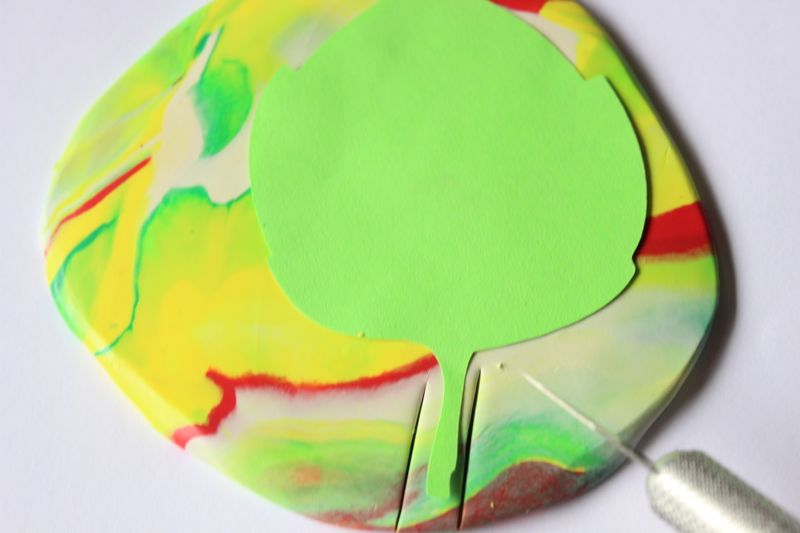 Ired-yellow-green-clay-marbled-leaf-ring-bowls-fall-diy