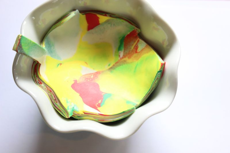 DIY Clay Marbled Leaf-Shaped Ring Bowls