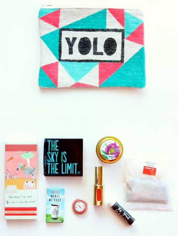 yolo-bag-gift-diy-costmetic-bag-candle-lipstick-compass-tea-bag-chocolate