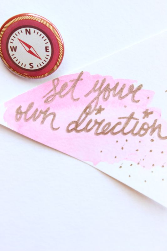 compass-button-pink-watercolor-tags-gold-diy-gift