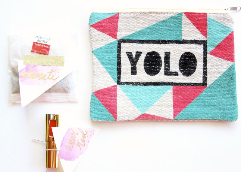YOLO-wear-red-diy-gift-watercolor-pink-tags-bath-tea-bag