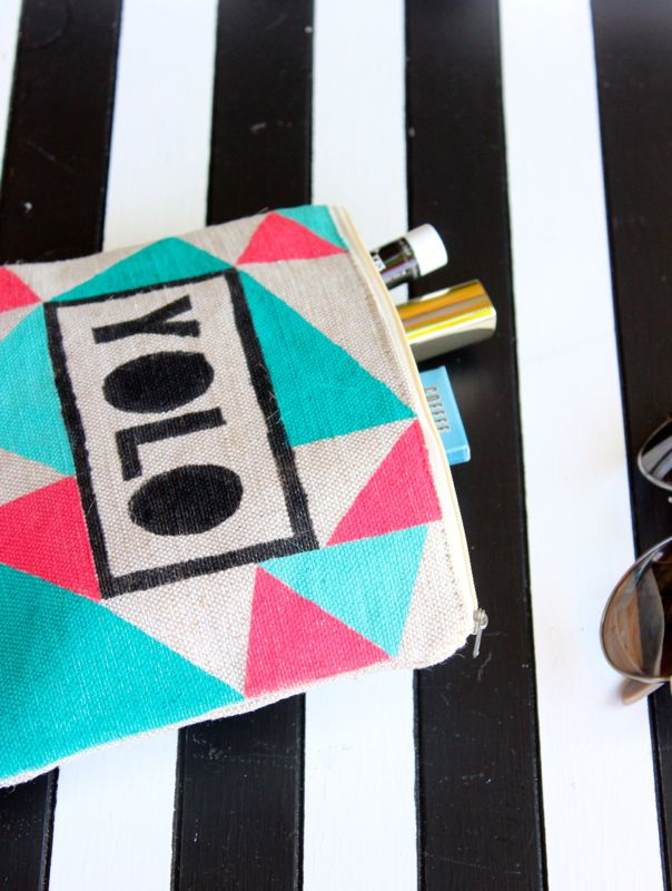 yolo-black-white-stripes-glasses-cosmetic-bag-diy-triangles