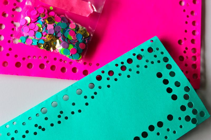 NYE colorful party with Astrobrights Papers