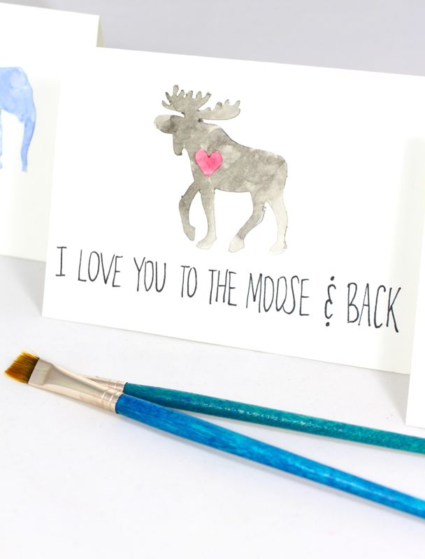 diy-watercolor-valentines-day-cards-kids-animals-moose-elephant-giraffe