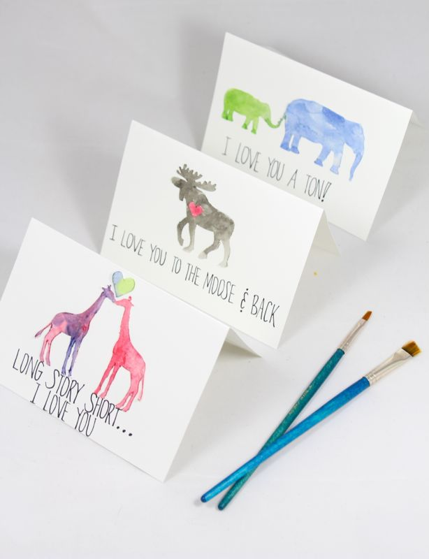 Image of: Bear Valentines Day Is One Of The Top Holidays When The Puns Just Cant Help Themselves Some Are Cute Some Are Cheesy Some Are Just Plain Genius All Work J Sorelle Diy Watercolor Animal Cards J Sorelle