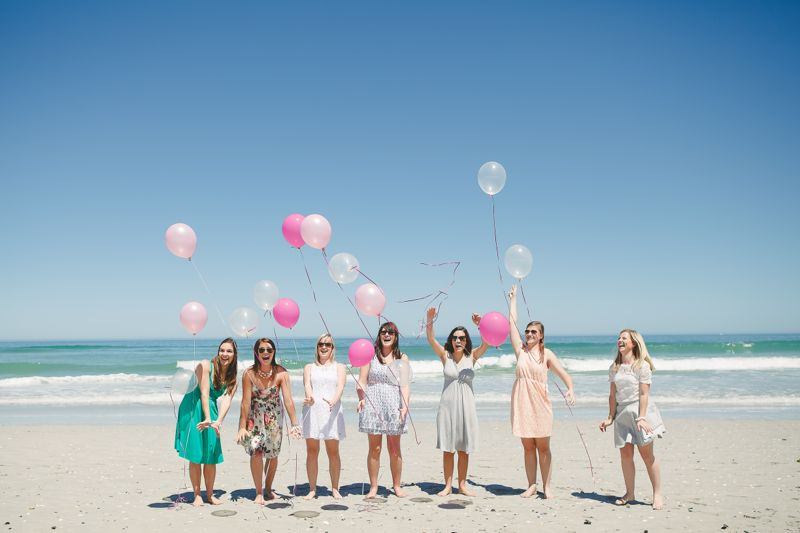 pink-balloon-release-beach-fun-ladies-bachelorette-weekend