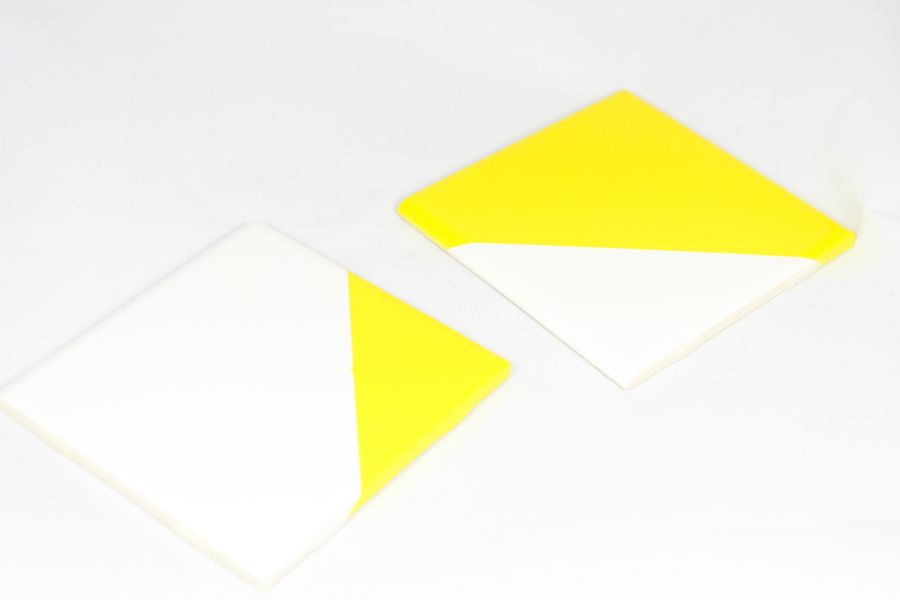 yellow-white-color-block-coasters