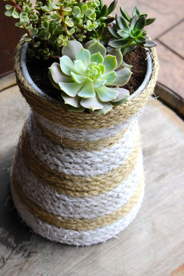 diy-succulent-hourglass-planter-rope-white-stripes