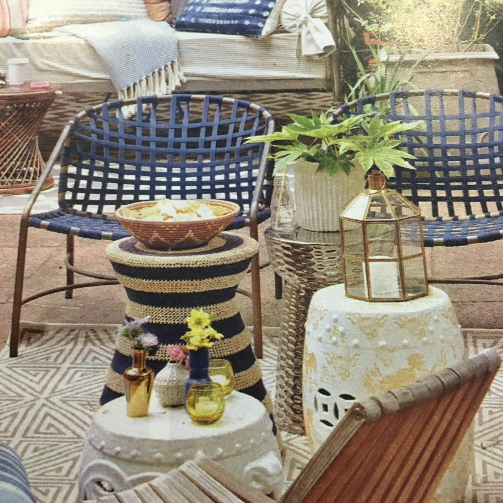 blue-striped-planter-nautical-hourglass-patio-side-table