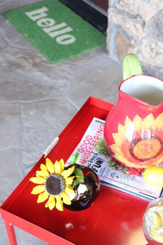 sunflower-red-table-front-porch-yellow-pillow-wayfair