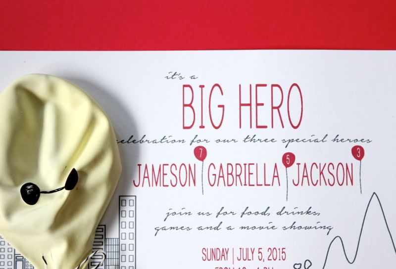 big-hero-6-party-baymax-invitation-kids-birthday-cityscape-invite-fleurdelisapaperie-etsy