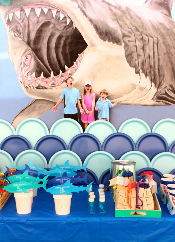 shark-party-wall-mural-kids-swim-