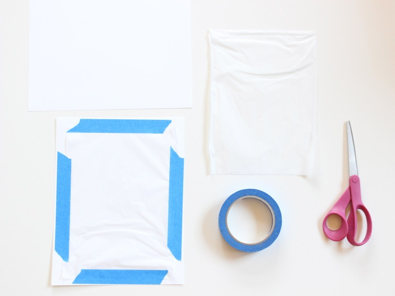 white-tissue-paper-blue-tape-scissors