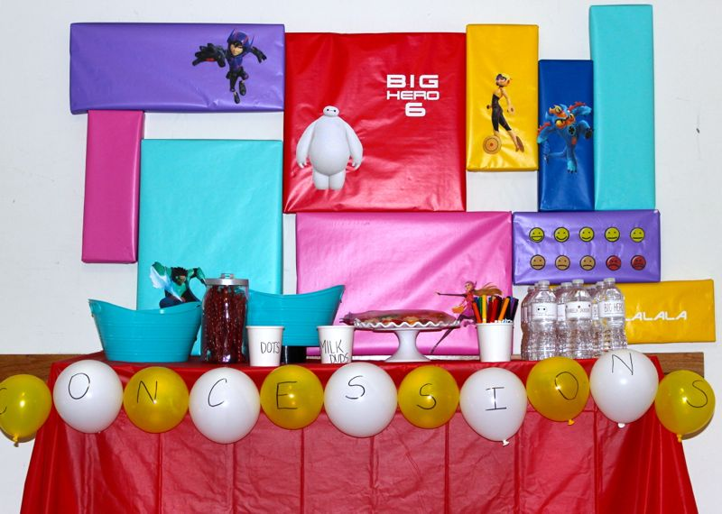 big-hero-6-party-backdrop-colorful-wrapping-paper-baymax-drive-in-concessions